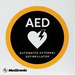 Navigačná tabuľka s piktogramom AED