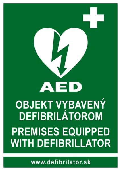 AED nálepka